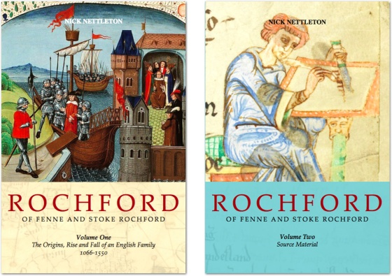 Rochford of Fenne and Stoke Rochford - Volumes One and Two draft covers