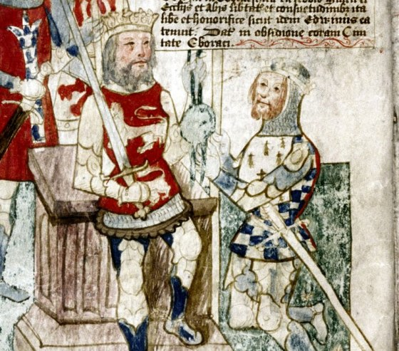 The investiture of Alan Rufus as lord of Richmond in about 1071 (detail)