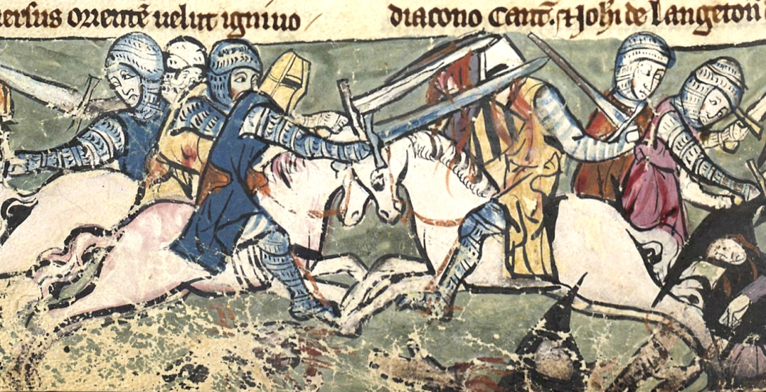 The battle of Falkirk, 22 July 1298, from The Rochester Chronicle