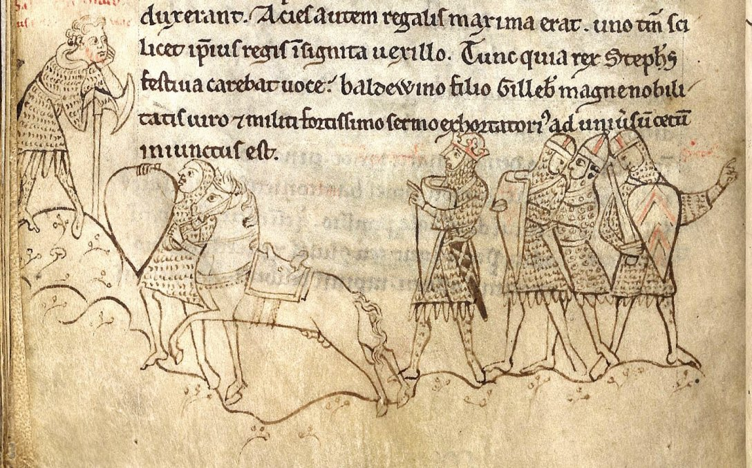 The first battle of Lincoln, 2 February 1141