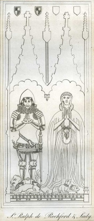 Effigies of Sir Ralph de Rochford of Walpole and his wife Matilda