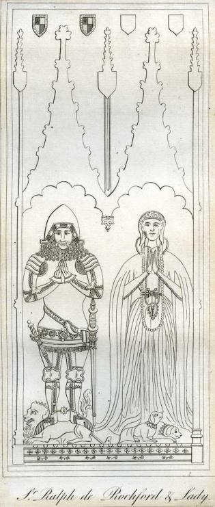 Effigies of Sir Ralph de Rochford I of Walpole and his wife Matilda