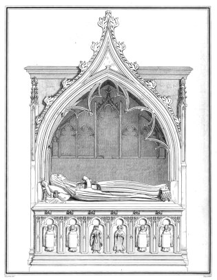 The tomb of Elizabeth, Lady Clinton, who died 11 September 1423, at St Mary's, Haversham