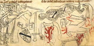 The battle of Evesham, from The Rochester Chronicle by Edmund of Haddenham