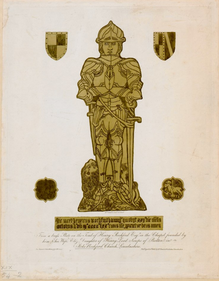 Effigy of Henry Rochford, died 1470, at Stoke Rochford church