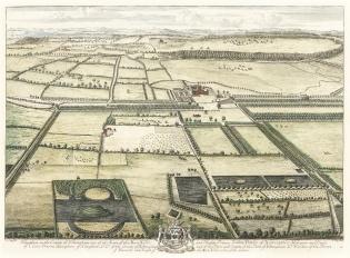 Haughton Park in Nottinghamshire, by Johannes Kip, 1707