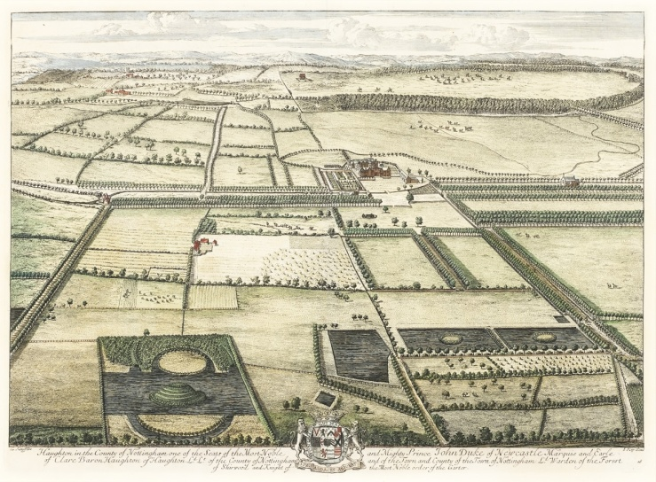 Haughton Park, Nottinghamshire, by Johannes Kip, 1707