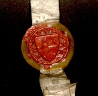 Sir John de Rochford II's seal with his coat of arms, 1391