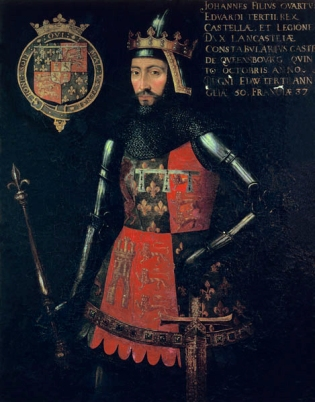 The Rochfords' late 1300s patron, John of Gaunt, by an unknown artist