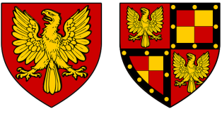 Sir Richard de Limesy's arms in various rolls of around 1300, and Sir Ralph Rochford III's from the Rouen Roll of about 1418.