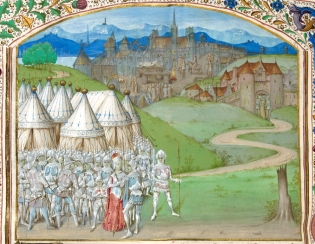 Queen Isabella, her rebel lover Roger Mortimer and their retainers
