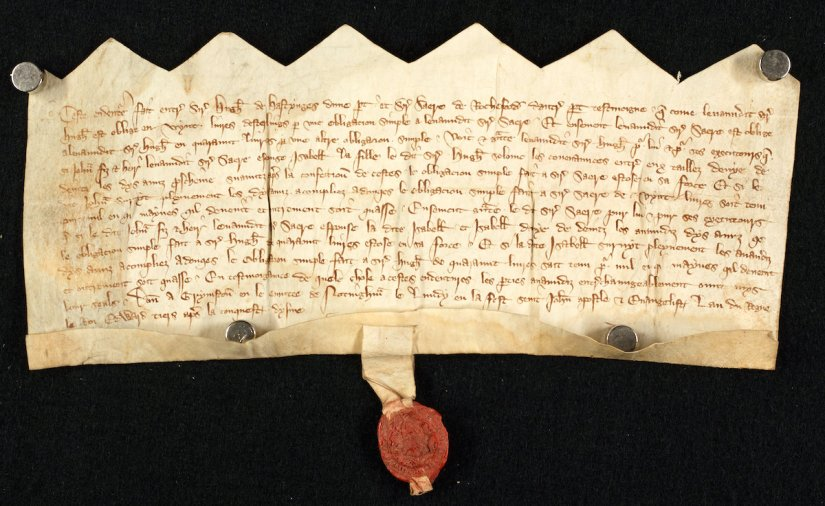 Which Rochford married a daughter of Sir Hugh Hastings? Two important documents from the Hastings of Gressenhallarchives
