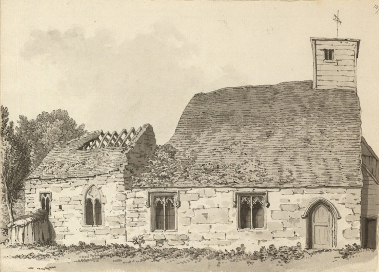 Old St Mark's, Lincoln, by Samuel Hieronymus Grimm, 1784