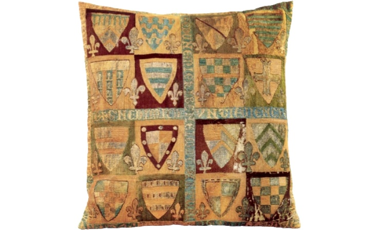 Pillow from the tomb of Rodrigo Jiménez de Rada, archbishop of Toledo