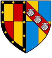 The arms of the Rochfords and the Fastolfs impaled