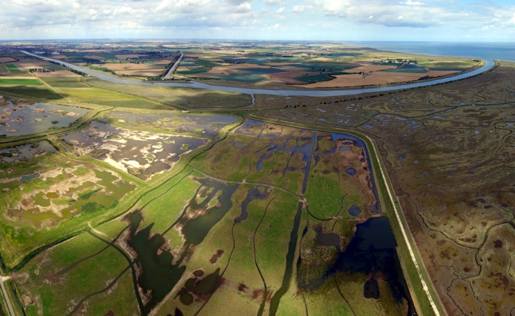 The view today across Boston Haven to the fields of Toft and Scrane. Photo copyright Tormod Amundsen of biotope.no.