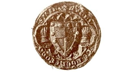 The seal of Sayer de Rochford around 1330