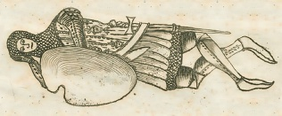 Effigy of Sir Roger Hillary, etching reproduced by permission of the William Salt Library