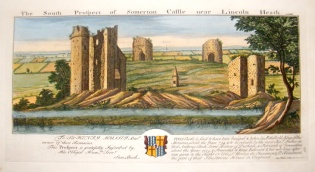 Somerton Castle, Lincolnshire, by Samuel Buck