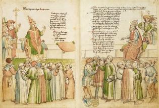 The Council of Constance, 1414-1418, from Ulrich von Richental's Chronik des Konstanzer Konzils