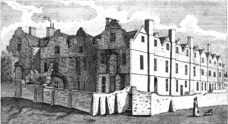 Thurland Hall, from James Orange's History of Nottingham, 1840