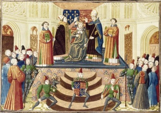 The coronation of Henry IV of England, 1399