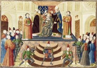 The coronation of Henry IV of England, 1399