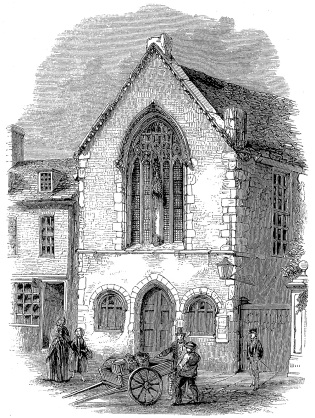 The Guildhall, Boston, in about 1820